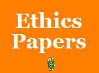 Thought paper on ethics.