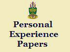 Personal experience paper.