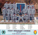 First Sergeant Course, Class- 02-07, Fort Riley, Kansas.