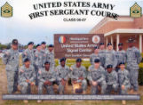 First Sergeant Course, Class- 08-07, Fort Gordon, Georgia.