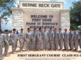 First Sergeant Course, Class-12-10, Ft. Hood.
