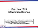 Doctrine 2015 information briefing.