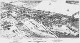 Bird's-eye view of Ft. Leavenworth, Kan., 1881.